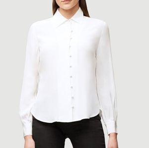 Frame Denim Off-White Silk Shirt